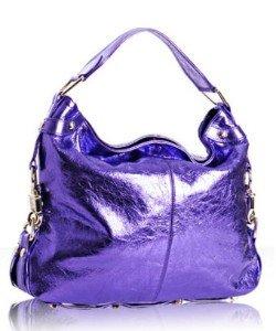 $545 REBECCA MINKOFF Mini NIKKI Hobo Bag in Metallic Purple NWOT