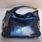 $545 REBECCA MINKOFF Mini NIKKI Hobo Bag in Metallic Blue NWT