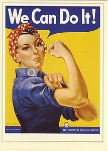 Modern Poster of WWII Rosie the Riveter / We Can Do It 1942 / SIZE 430mm x 600mm