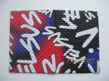 Vinyl Passport Cover / abstraction Freestyle / Personal Travel Case Holder / NEW / #1