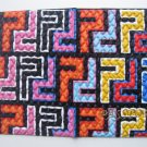 Vinyl Passport Cover / abstraction labyrinth / Personal Travel Case Holder / NEW / #6