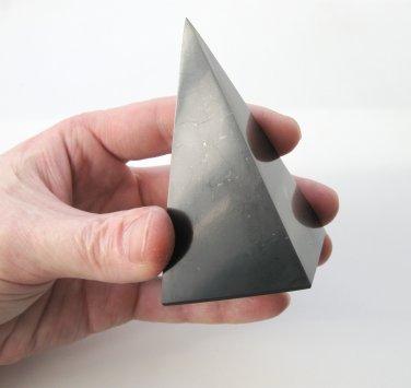 Shungite PYRAMID high Healing Metaphysical Stone Shungit Schungit polished 135 gr#923