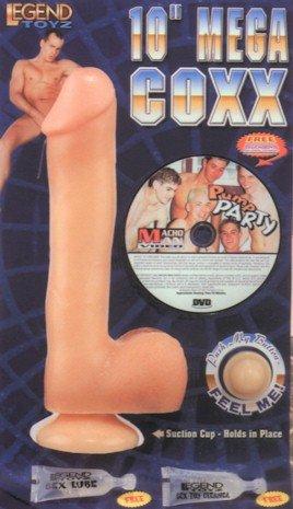 10 inch Mega Coxx and DVD Non Vibrating Dildo