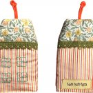 TonTubTim Home Sweet Home Key Holder / Key Fob (size s): Pin Stripe Orange