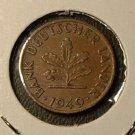 GERMANY 1949-D 1 Pfennig -- KM A101 -- nice XF