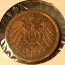 GERMANY 1907-A 2 Pfennig - KM16 - nice AU - Berlin