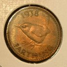 GREAT BRITAIN 1938 Farthing - KM843 - UNCIRCULATED
