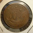 GREAT BRITAIN 1940 1/2 Penny -- KM844 -- XF