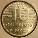 BRAZIL 1984 10 Cruzeiros -- KM10 -- BU