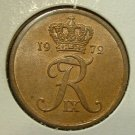 DENMARK 1972 5 ORE -- KM848.2 -- UNCIRCULATED -- 1 yr type