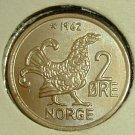 NORWAY 1962 2 Ore -- KM410 -- UNC
