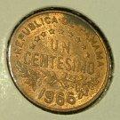 PANAMA 1966 Un Centesimo -- KM22 -- UNCIRCULATED