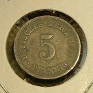 GERMANY 1898-F 5 Pfennig -- VF