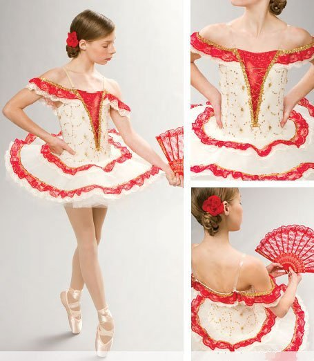 Girl BALLET TUTU DANCE DRESS PARTY DRESS style 5