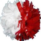 "cheerleading pom pom 3/4*6"" pom custom color baton dual-head on pair poms"
