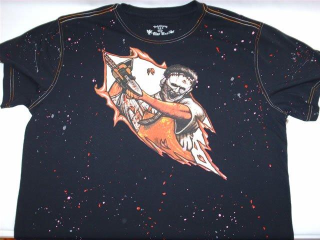 Inkslingers Chainsaw Splatter T-shirt
