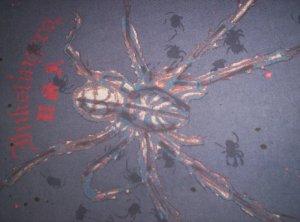 Inkslingers Dark Blue Black Widow T-shirt