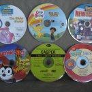 DVD's For Children Animated Lot of 6 Bob the Builder,Care Bears,Felix,Casper,SpongeBob