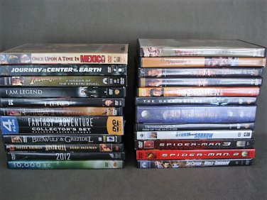 DVD�s Lot of 23 Action Adventure Total 45 Movies
