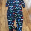 Dr Seuss Costume PJ's One Fish Two Fish Red Fish Blue Fish Size Large