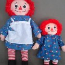 T53 Raggedy Ann Hasbro & Playskool Softies Dolls Lot of 2