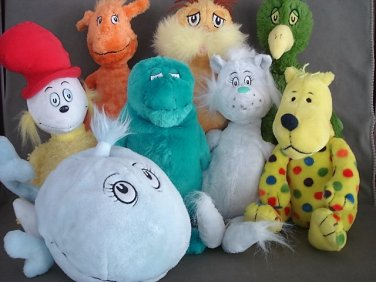 T45 Dr Seuss Characters Lot of 8