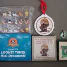 H22 Christmas Ornaments Home Décor Collectibles Lot of 3 Looney Tunes,Scooby Doo,Norman Rockwell