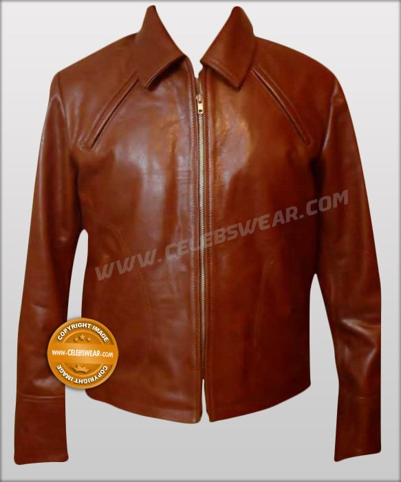 Inception ARTHUR Brown Vintage Cowhide Leather Jacket