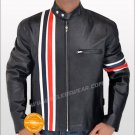 Peter Fonda Easy Rider Wyatt Black Leather Jacket