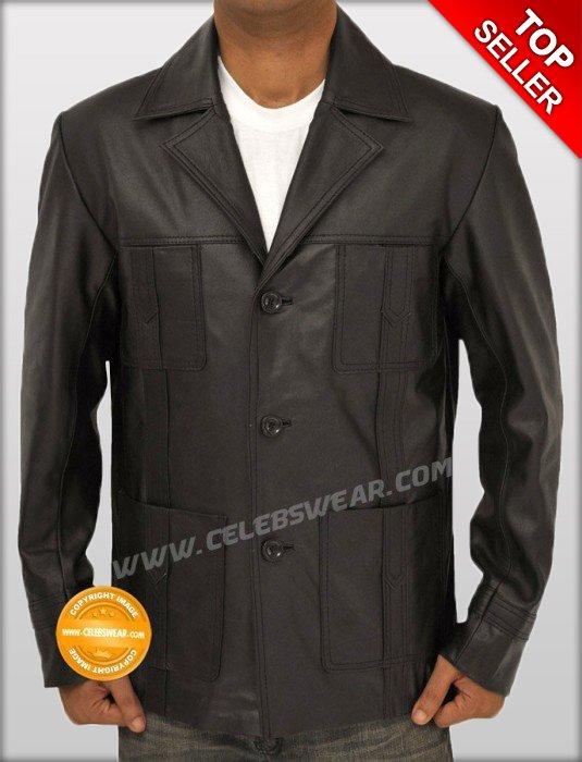 Sam Tyler Life on Mars Cowhide Black Leather Jacket