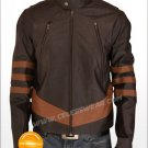X Men Wolverine Logans Brown Zipper Leather Jacket