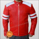 Mayhem Brad Pitt Fight Club Red Biker Leather Jacket