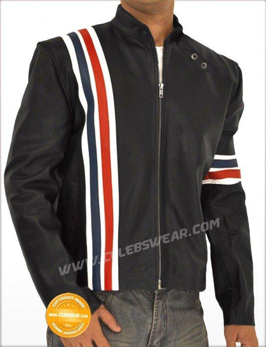Peter Fonda Easy Rider Jacket Captain America with Flag