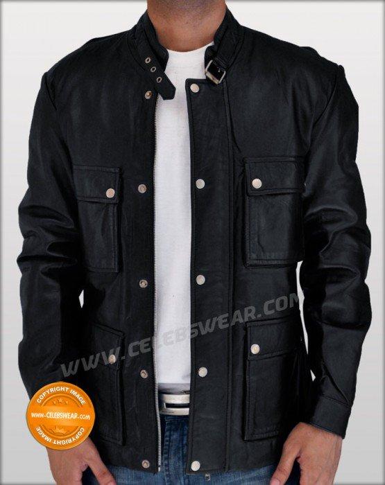 The Expendables Jason Statham Biker Leather Jacket
