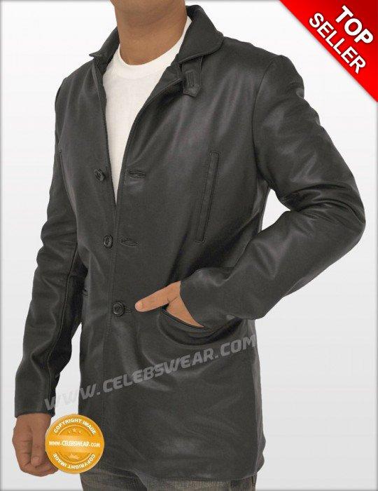 Max Payne Black Lambskin Cool Leather Jacket / Coat