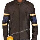 X Men 3 Wolverine Brown Leather Jacket with Strips