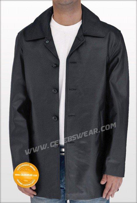 Supernatural Black Lambskin Leather Jacket / Coat