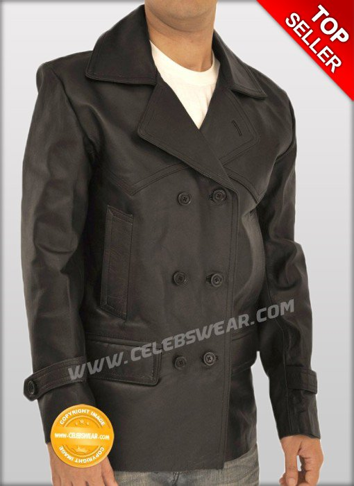 WW2 German Dr Who Black Cowhide Leather Jacket / Coat