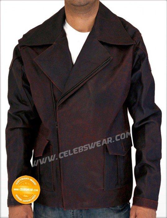 I Robot Del Spooner Distress Leather Jacket / Coat