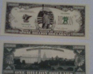 Statue Of Liberty Billion Dollar Novelty Bill