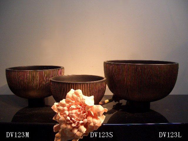 THAILAND WOOD VASE-DV123M/DV123S/DV123L