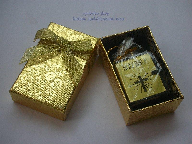 MINI BIBLE KEYRING(GOLD)WITH BOX