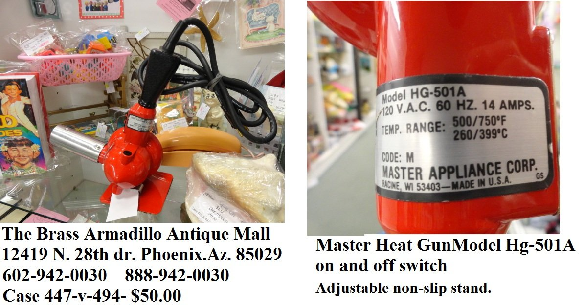 Master Appliance Model HG-501A Master Heat Gun, 500F-750F.
