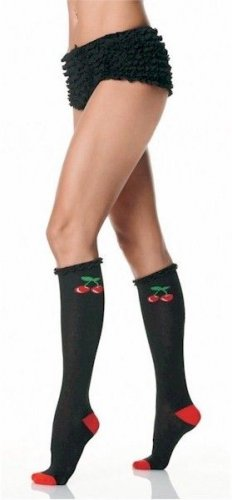 Cherry Knee High Socks