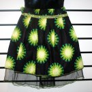Black and Green Net Skirt