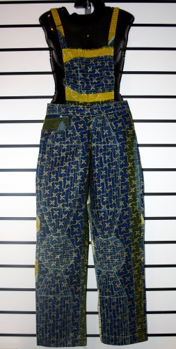 Blue and Yellow  Long Overall