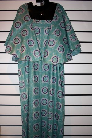 Blue Big Sleeved Long Dress