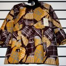 Brown/Cream Ankara Jacket