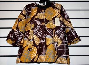 Brown/Cream Ankara Jacket