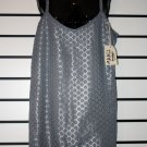 Silver Lace/ Satin Dress